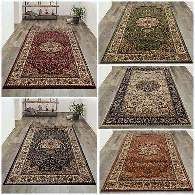 Small Large Classic Traditional Rugs Beige Burgundy Green Black Long Hall Runner