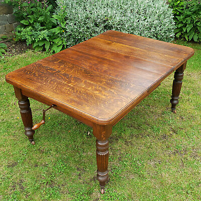 Victorian Small Oak Extending Kitchen Dining Table C1870