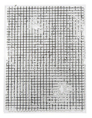 Clear Acrylic BRICK WALL Stamp Mixed Media Background on 1 Sheet 10.5cm x 10.5cm