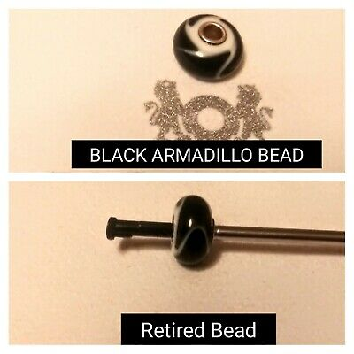 AUTHENTIC TROLLBEADS BLACK ARMADILLO TGLBE-10070 ARMADILLO NERO