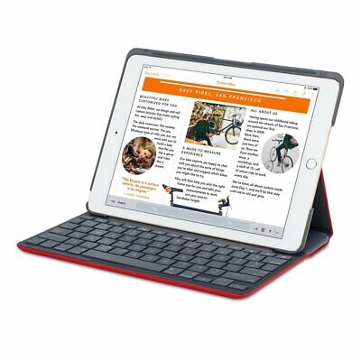 NEW OEM Logitech Red Canvas Wireless BT Keyboard Folio iPad Air 2 Case Y-R0051