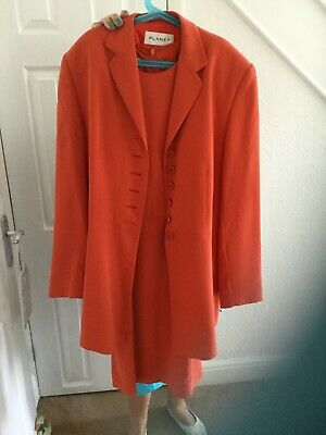 Ladies outfit planet dress and jacket size 12 orange