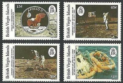 BRITISH VIRGIN IS. 1989  USA in SPACE // APOLLO 11  full SET of 4  MNH CV$12.00