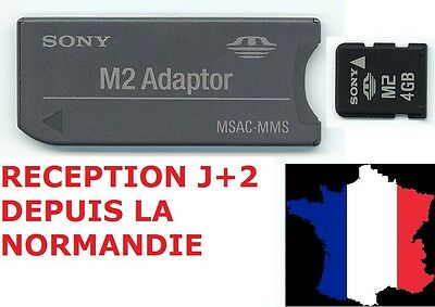 ADAPTATEUR CARTE SONY MICRO M2 vers MEMORY STICK Pro NEUF/ M2 TO MS ADAPTER PSP