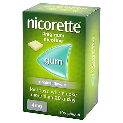Nicorette Chewing Gum 4mg Original Flavour 105 Pieces EXPIRES 06/19