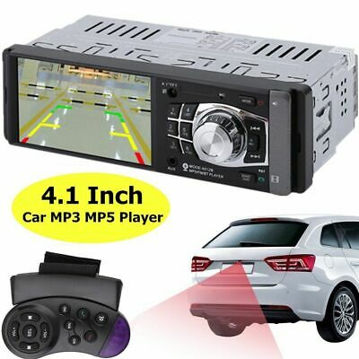 "4.1"" 1DIN Bluetooth Car Audio Stereo In Dash MP3 MP5 Player Radio FM USB AUX"
