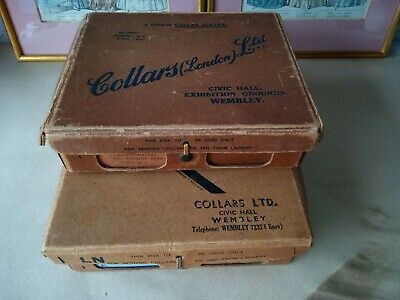 Vintage Collars Ltd  of Wembley 1930 to 50's collar box *2, Laundry Service box