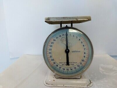 Vintage Toddletime Infant Baby Scale Metal 0-30lbs. Works Rare!