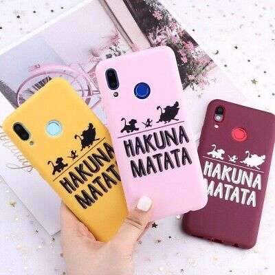 Phone Case For Huawei Honor Mate Nova P30 P Smart Hakuna Matata Lion King Candy