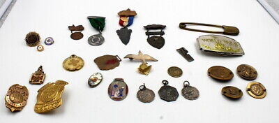 LOT- POLICE BADGES, KNIGHTS of COLUMBUS TFMM, AM. LEGION PINS & SOUVENIRS #5904