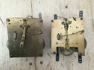 ** A Pair of British 8 Day Mechanical Clock Movements **