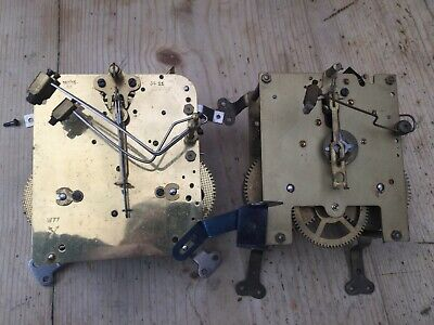 **  A Pair of 8 Day Mechanical Striking Clock Movements **