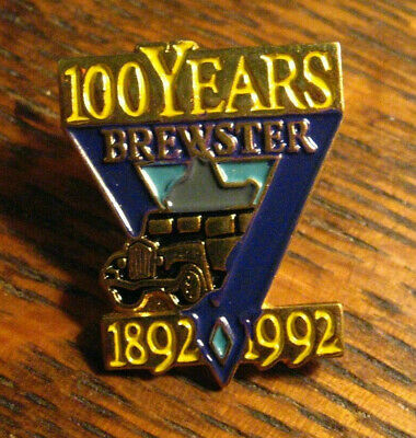 Brewster Lapel Pin - Vintage 1992 Tours Transportation 100 Years Anniversary Pin