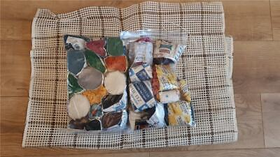 Vintage Wool Rug Making Assorted collection including Canvas