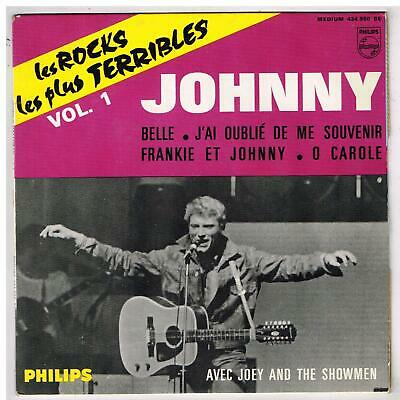 """Johnny  HALLYDAY   Belle           7""""  45 tours EP"""