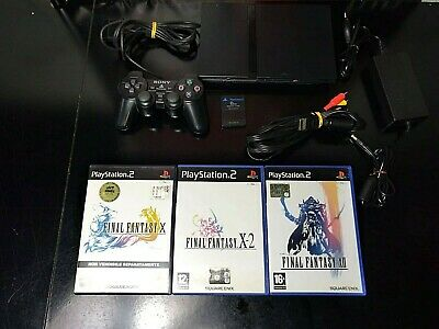 CONSOLE SONY Playstation 2 PS2 slim SCPH 70004 + Final Fantasy X  X-2  XII