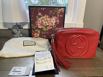 39f79989c AUTHENTIC! GUCCI SOHO Disco Red Leather Crossbody Bag - $799.00 ...
