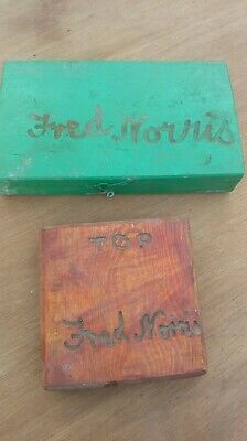 2 Interesting vintage boxes Wooden Tool Box Router Bit Box carpenters tools 1967