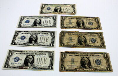 1935 /& 1957 Well Circulated One Dollar Silver Certificate Bills Note Lot of 50