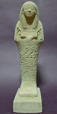 Rare Ancient Egyptian Antiques Ushabti Shabti Queen Statue Egypt Luxor Stone Bc
