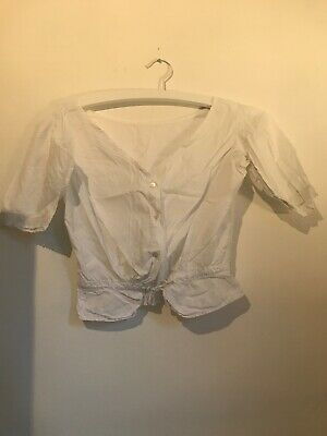 Antique/vintage 1890/1900 Corset Cover White Cotton Top(s)