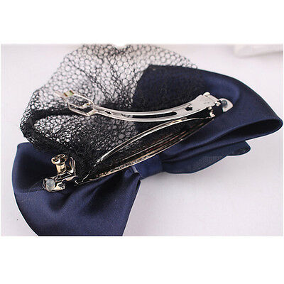 Les femmes Bow filet barrette bowknot cheveux clip chignon Cover Snood  *FR