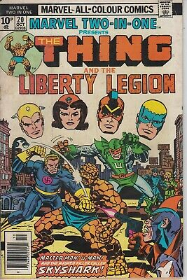 Marvel Two-in-One 20 - 1976 - Kirby cover - Thing & Liberty Legion - Fine