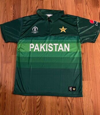 ICC World Cup 2019 Pakistan Cricket T Shirt Jersey Official AJ Product All Sizes