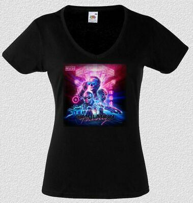 c9a1e8d3d2941d muse Simulation Theory WOMEN BLACK t-shirt BAND ladies lady shirt for girls