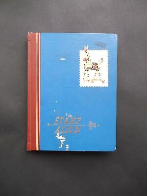 Tatty Flying Eagle Stock Book/Stamp Album Contains 400+ World Stamps.