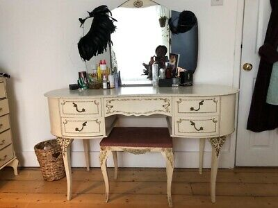 Vintage French Louis XV Olympus Style Dressing Table