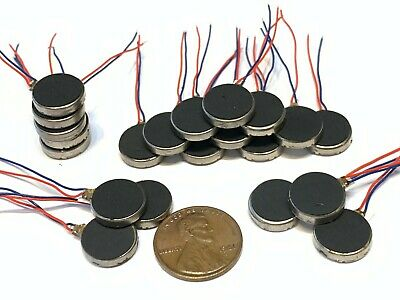 20 Pieces Vibration coin Vibrating motor 12mm small brushless 1400rpm micro B14