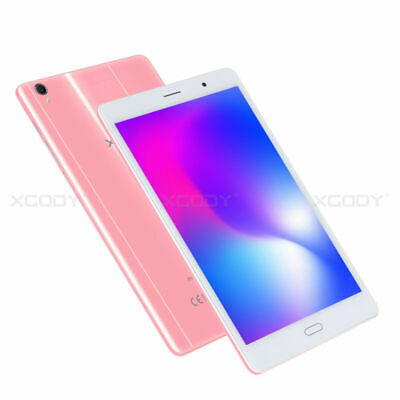 XGODY Android 6.0 8 inch IPS 16GB 4G-LTE Tablet PC Pink 2xCam Type-C GPS Phablet