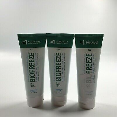 Pack of 3 Biofreeze Pain Relieving Gel 3 Ounce Tube