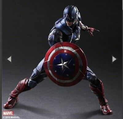 "Play Arts Kai Variant Marvel Universe Captain America 10"" Action Figure"