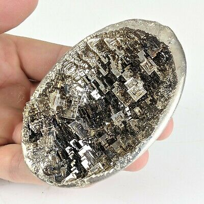 "GEMCORE: One (1) Large ""Albino"" Bismuth Dragon Egg Geode Crystal Chakra Healing"