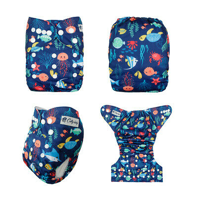 Baby Cloth Diaper Washable Waterproof Adjustable Pocket Nappy Without Insert P32