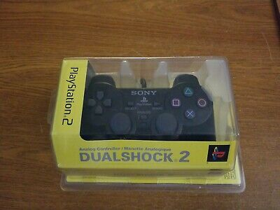 Sony Playstation 2 PS2 Dual Shock 2 Controller OEM Black New Sealed SCPH-10010U