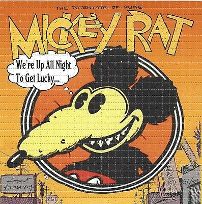 BLOTTER ART MICKY RAT SIGNED BY ARTIST ROBERT ARMSTRONG  Perforated Sheet