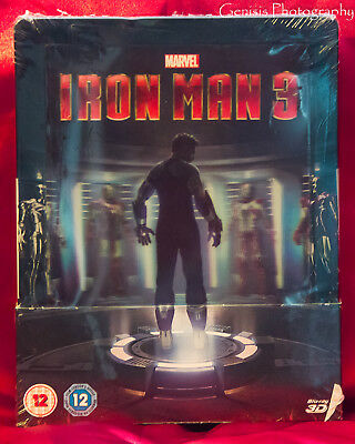 Iron Man 3 - Zavvi Limited Edition Lenticular Steelbook Blu-ray NEW Sold Out **