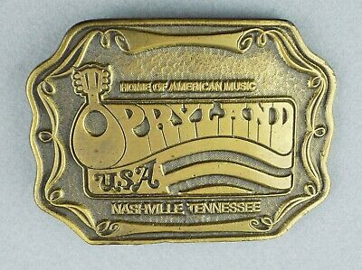 1974 Oden Inc. Opryland USA Solid Brass Belt Buckle Nashville Tennesse 3-3/4""