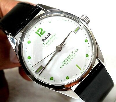 Hmt Janata Luminous India Manual Wind Classic White Dial Men's Collectors Watch