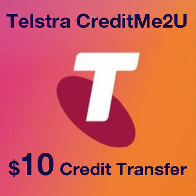 $10 Telstra credit me2u Prepaid - SUPER FAST Transfer (usually SAME DAY)