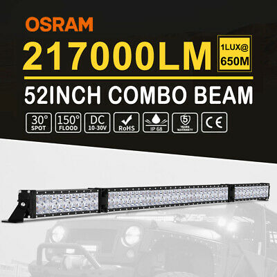 "52inch Folding 5D LED Light Bar Spot Flood Combo Beam Work Driving 4WD 52"" SUV"