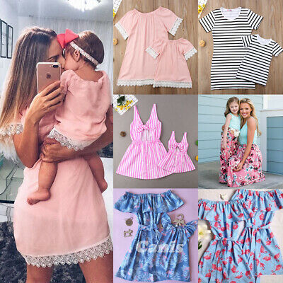 21af932fc8ec6 MOM AND ME Family Matching Dress Mother Daughter Floral Holiday Summer  Dress US