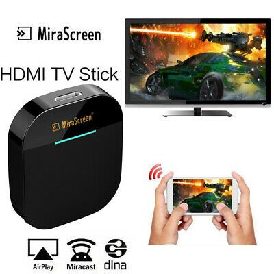 1080P MiraScreen WIFI HD Display TV Dongle Miracast DLNA Airplay HDMI Receiver