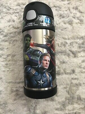 Marvel Avengers Endgame  iron Spider man Thermos Funtainer 12oz water Bottle