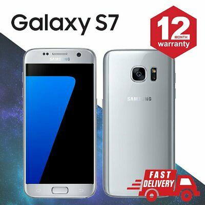 ☀️Samsung Galaxy S7 32GB Android Unlocked Mobile Phone Silver