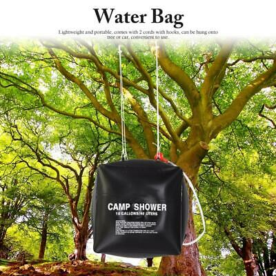 40L Solar Heating Outdoor Camping Showering Water Storage Bag w/ Shower Head