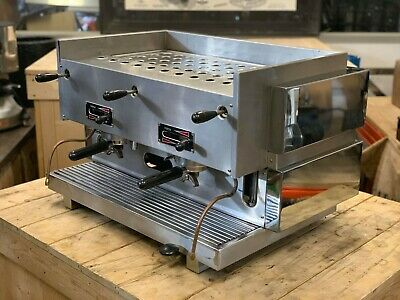 La San Marco 75 Mp Manual Paddle 2 Group Espresso Coffee Machine Restaurant Cafe